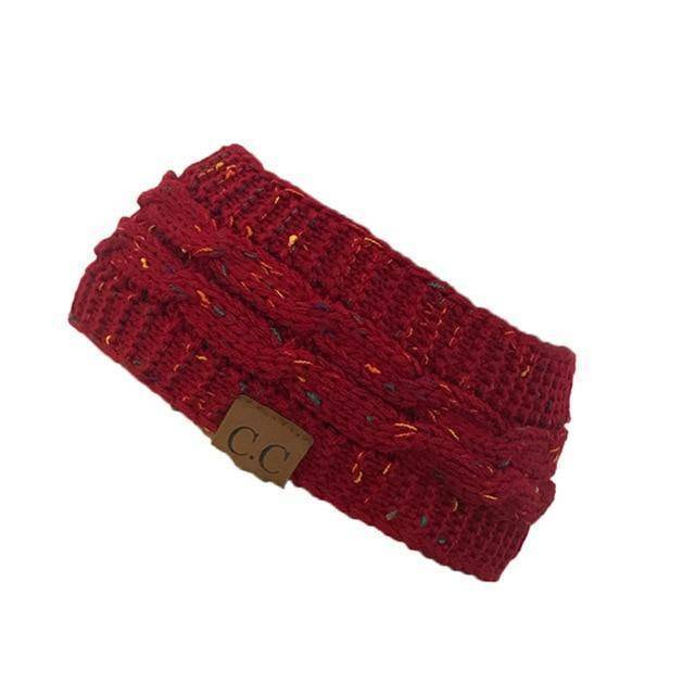 Knitt Multi Color C.C. Half Beanie  -  red  -   - SNS Outlet