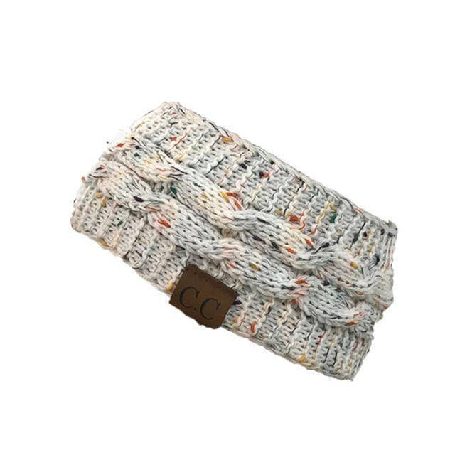 Knitt Multi Color C.C. Half Beanie  -  white  -   - SNS Outlet