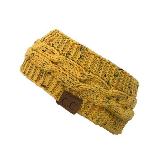 Knitt Multi Color C.C. Half Beanie  -  yellow  -   - SNS Outlet