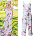 Lace Up Floral Print Women's Romper  -  White / S  -  Jumpsuits  - SNS Outlet