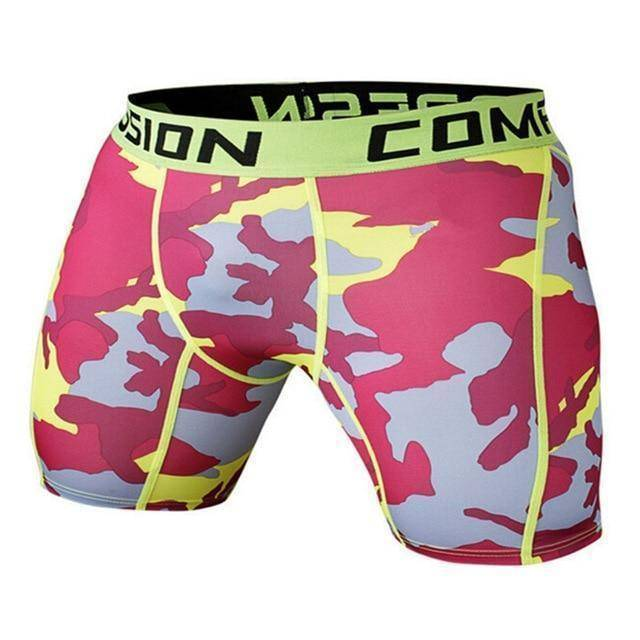 Men's Compression Shorts  -  as the picture shows 4 / S  -   - SNS Outlet