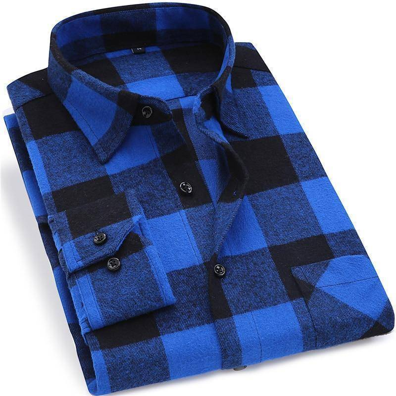Mens Flannel Shirt  -  DTF02 / S  -  Casual Shirts  - SNS Outlet
