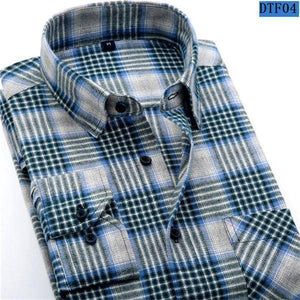 Mens Flannel Shirt  -  DTF04 / S  -  Casual Shirts  - SNS Outlet