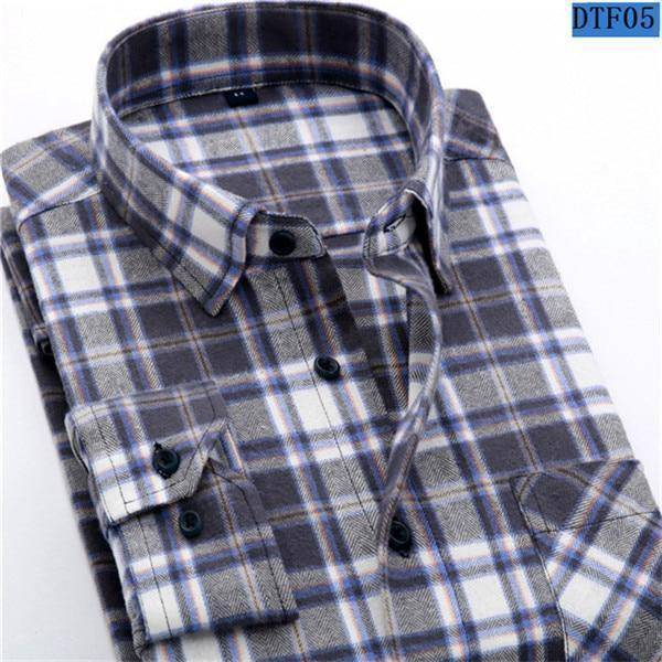 Mens Flannel Shirt  -  DTF05 / S  -  Casual Shirts  - SNS Outlet
