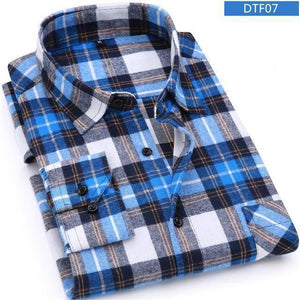 Mens Flannel Shirt  -  DTF07 / S  -  Casual Shirts  - SNS Outlet