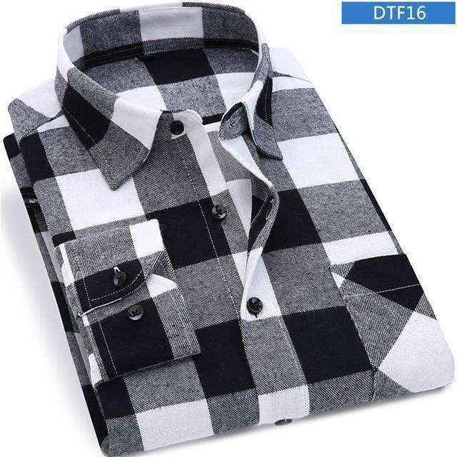 Mens Flannel Shirt  -  DTF16 / S  -  Casual Shirts  - SNS Outlet
