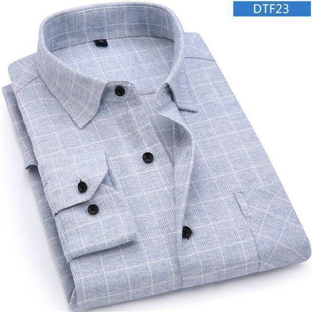 Mens Flannel Shirt  -  DTF23 / S  -  Casual Shirts  - SNS Outlet