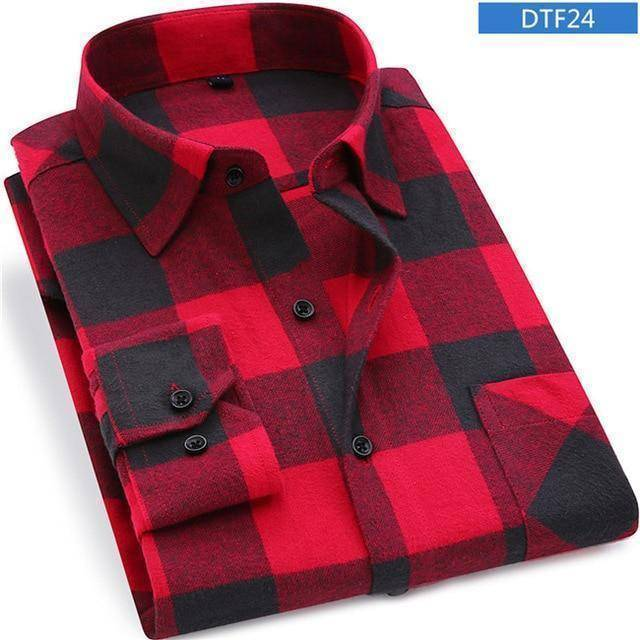 Mens Flannel Shirt  -  DTF24 / S  -  Casual Shirts  - SNS Outlet