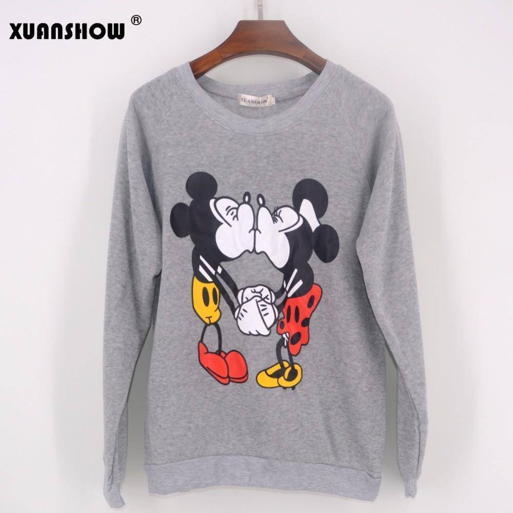 Mickey & Mini Love Track Suit  -  Gray / S  -  Women's Sets  - SNS Outlet