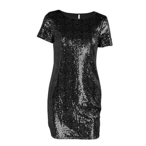 Mini Sequins Dress  -  Black / S  -  Dresses  - SNS Outlet