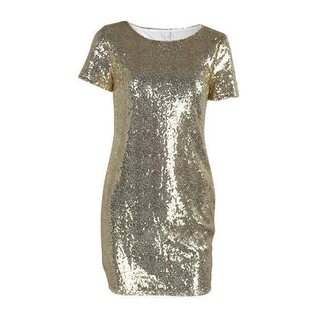 Mini Sequins Dress  -  Gold / M  -  Dresses  - SNS Outlet