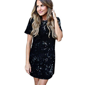 Mini Sequins Dress  -  Gold / S  -  Dresses  - SNS Outlet