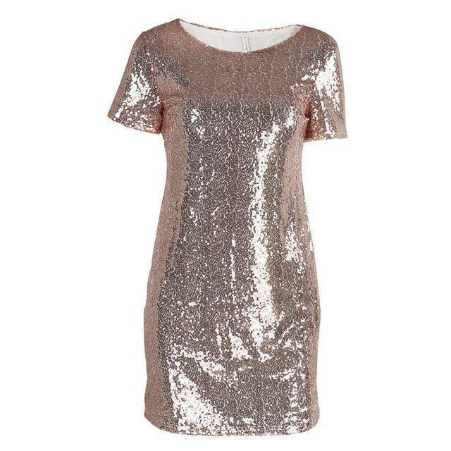 Mini Sequins Dress  -  Pink / S  -  Dresses  - SNS Outlet