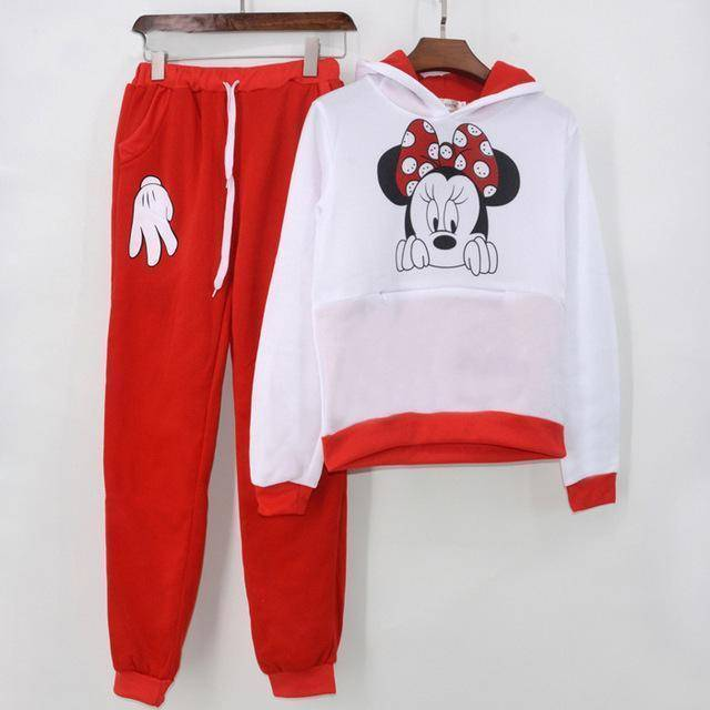 Minnie Mouse Tracksuit  -  Red / S  -  Women's Sets  - SNS Outlet