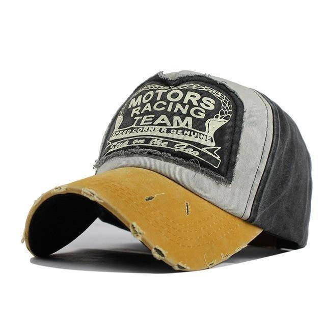 Motor Racing Trucker Hat  -  MO Yellow / Adjustable  -   - SNS Outlet