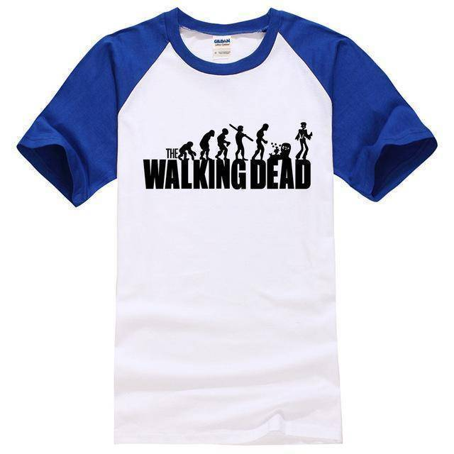 NEW STYLE RAGLAN TEE SHIRT THE WALKING DEAD  -  black grey / S  -  Shirt  - SNS Outlet