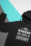 Queens Are Born In January Hoodie  -  S  -  Hoodie  - SNS Outlet