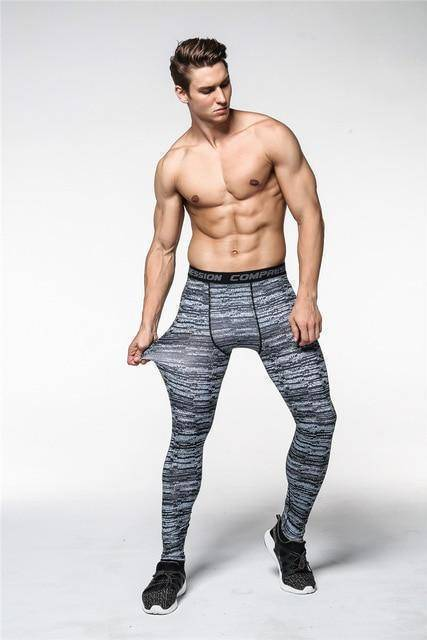 QuickDry Compression Pants  -  Gray / S  -  Leggings  - SNS Outlet