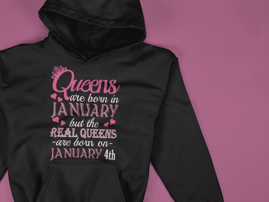 Real Queens Born In January Hoodie  -  S  -  Hoodie  - SNS Outlet