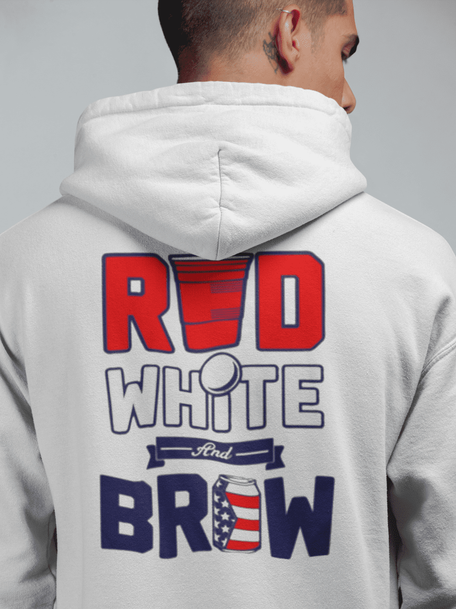 red-white-brew-hoodie  -  White / S  -  Hoodie  - SNS Outlet