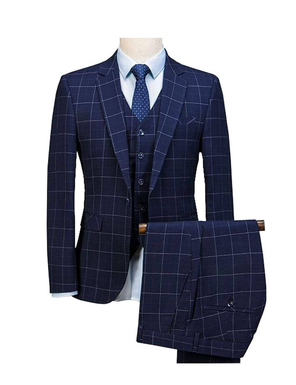 Rendition by Caprici Men's 3 Piece Suit (Jacket+Pants+Vest)  -  vest / S  -  Suits  - SNS Outlet