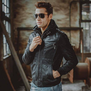 Ride Clean Genuine Premium Leather Jacket By Flavor  -  Black / XS  -  Jacket  - SNS Outlet