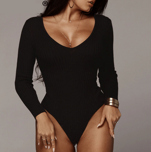 Room Service Off Shoulder Bodysuit  -  Black / S  -  Bodysuits  - SNS Outlet