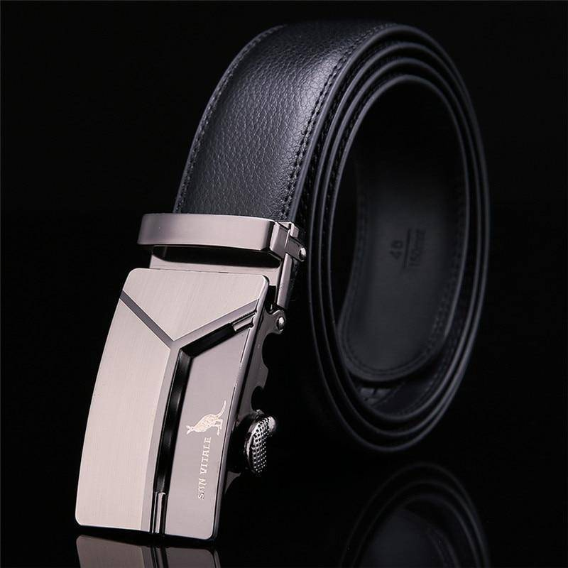 SanVitale™ Foxtrot Mens Leather Belt  -  BLACK / 110cm  -  Belt  - SNS Outlet