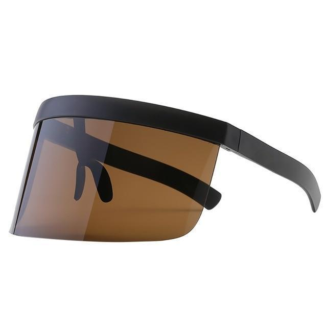 SNS Polarized Visor Sunglasses  -  Brown  -  Sunglasses  - SNS Outlet
