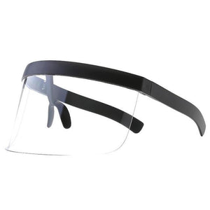SNS Polarized Visor Sunglasses  -  Clear  -  Sunglasses  - SNS Outlet