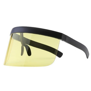 SNS Polarized Visor Sunglasses  -  Yellow  -  Sunglasses  - SNS Outlet