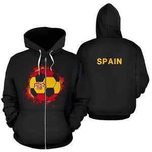 spain-soccer-zip-up-hoodie  -  Men's Zip-Up Hoodie / S  -  Hoodie  - SNS Outlet