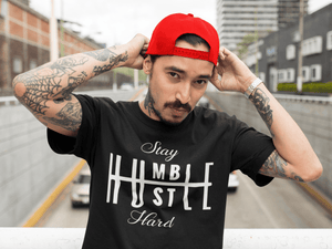 Stay Humble Hustle Hard  -  Small / Black  -  tshirt  - SNS Outlet