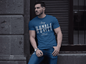 Stay Humble Hustle Hard  -  Small / Blue  -  tshirt  - SNS Outlet
