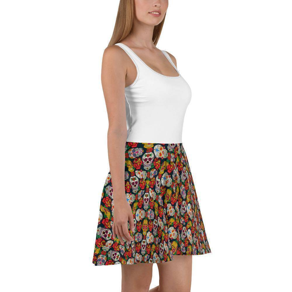Sugar Skull Sun Dress  -  S  -   - SNS Outlet