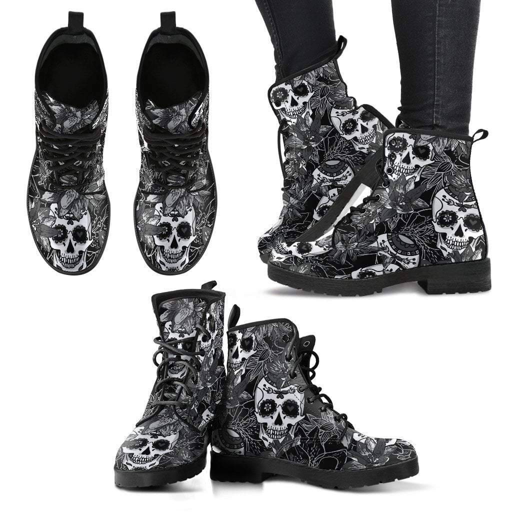 Sugar Skull Women's Leather Boots  -  Women's Leather Boots / US5 (EU35)  -   - SNS Outlet