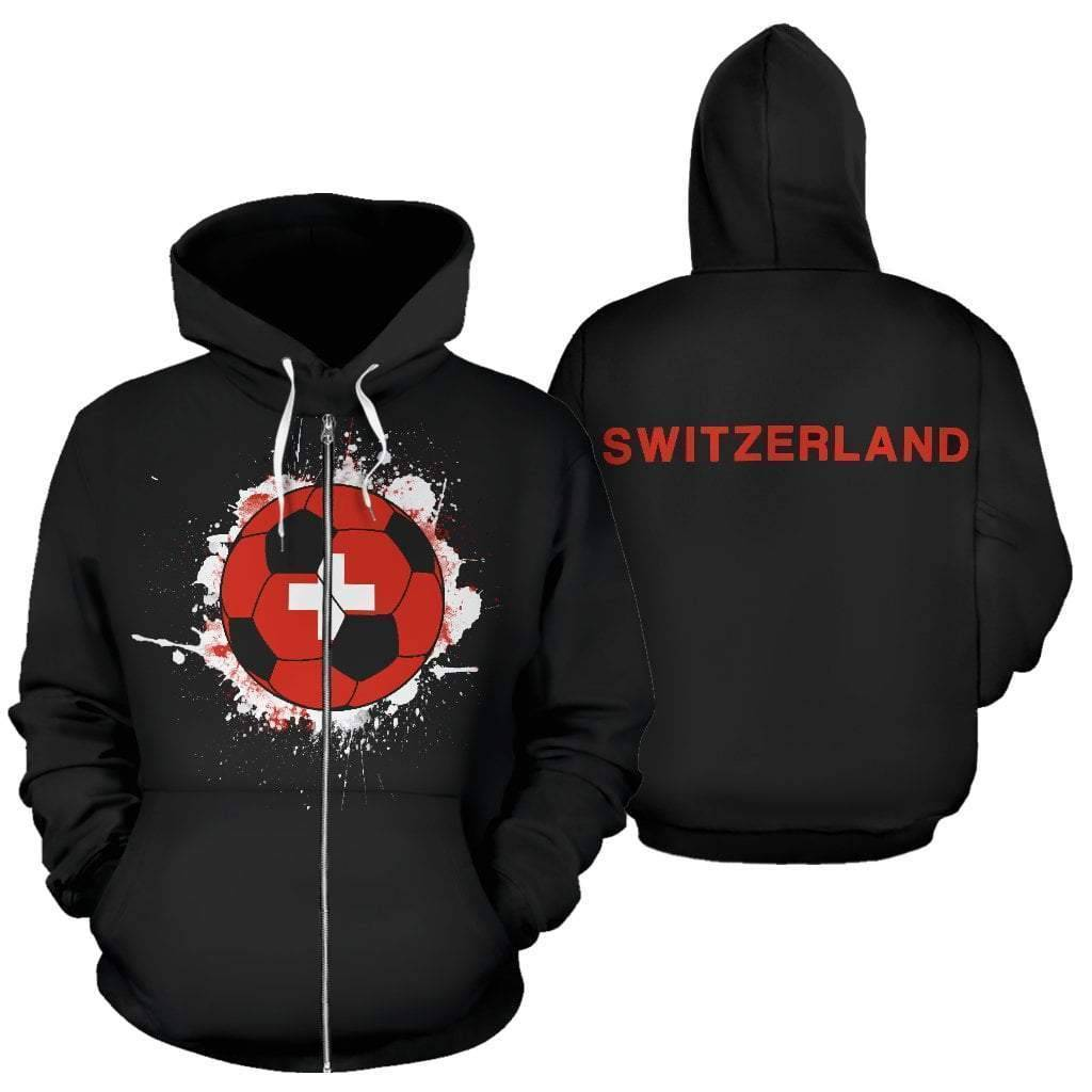 switzerland-soccer-zip-up-hoodie  -  Men's Zip-Up Hoodie / S  -  Hoodie  - SNS Outlet