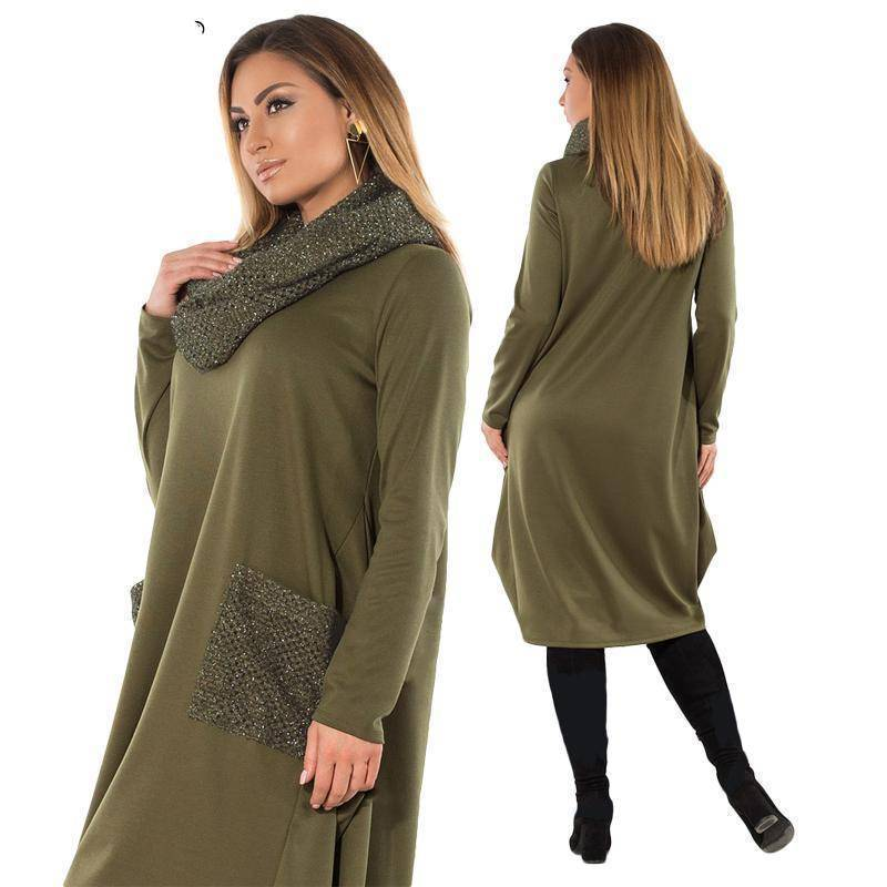 The Ashbury Dress™ (PLUS SIZE UP TO 6X)  -  Army Green / L  -  Dresses  - SNS Outlet