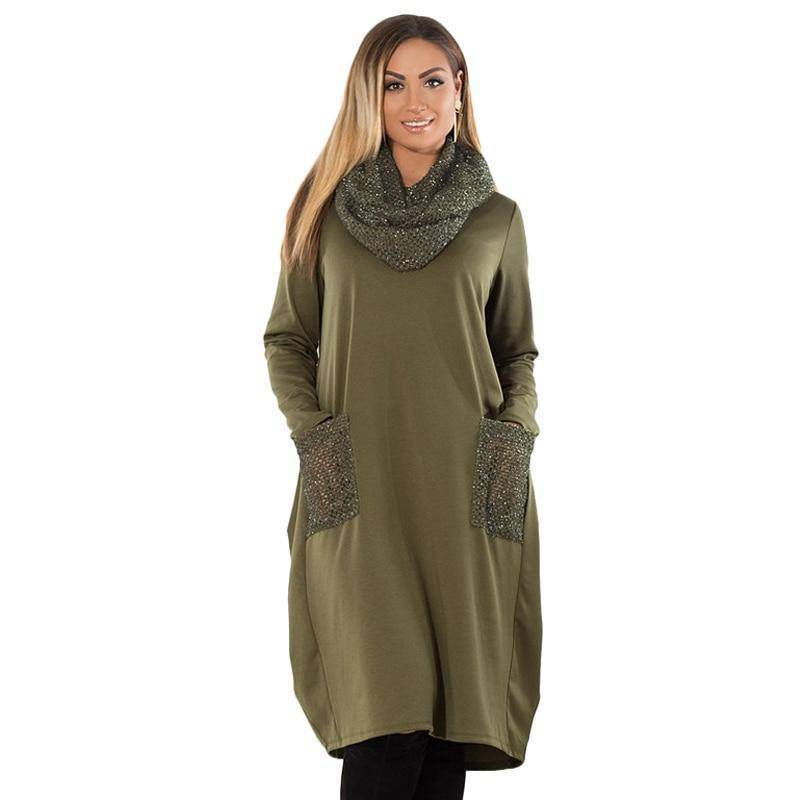 The Ashbury Dress™ (PLUS SIZE UP TO 6X)  -  Army Green / XL  -  Dresses  - SNS Outlet