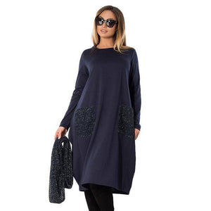 The Ashbury Dress™ (PLUS SIZE UP TO 6X)  -  Blue / L  -  Dresses  - SNS Outlet