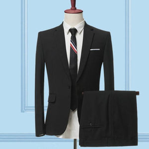 The Businessman by Valvano Men's 3 Piece Suit  -  2 pieces sets black / S  -  Suits  - SNS Outlet