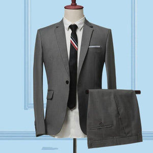 The Businessman by Valvano Men's 3 Piece Suit  -  2 pieces sets gray / S  -  Suits  - SNS Outlet