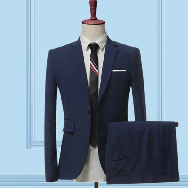 The Businessman by Valvano Men's 3 Piece Suit  -  2 pieces sets navy / S  -  Suits  - SNS Outlet