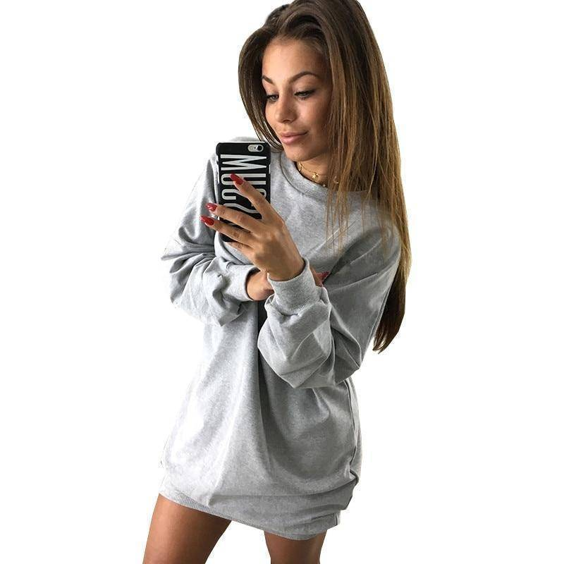 The Casual Sweater Dress  -  Army Green / S  -  Hoodies & Sweatshirts  - SNS Outlet
