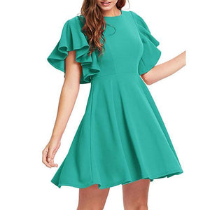 The Cover Skater Dress By Dante  -  Green / S / United States  -  Dress  - SNS Outlet