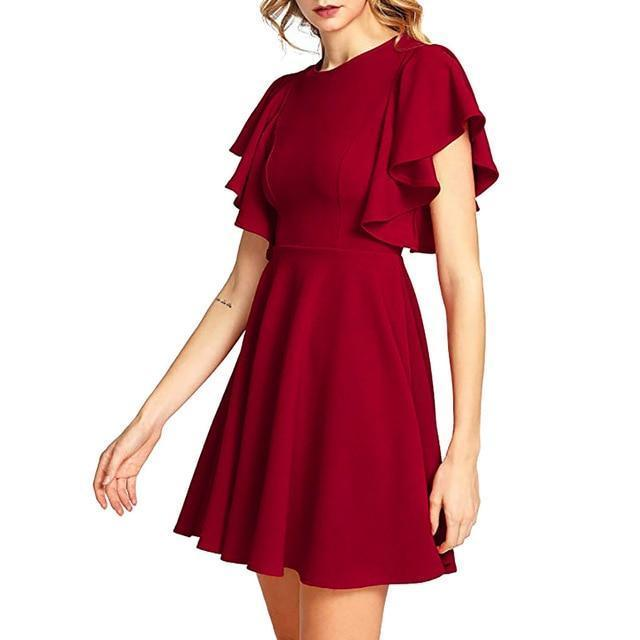 The Cover Skater Dress By Dante  -  Red / S / United States  -  Dress  - SNS Outlet