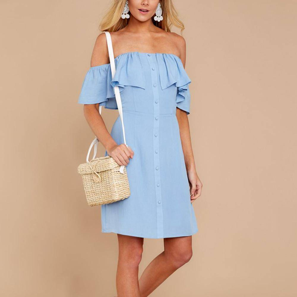 The Elegant Women's Summer Dress  -  White / S  -  Dresses  - SNS Outlet