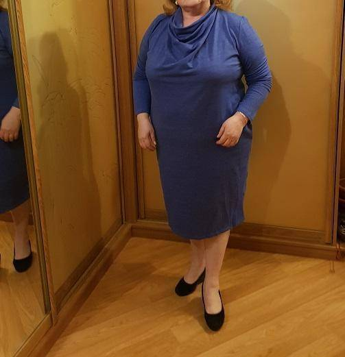 The Office Pocket Dress (PLUS SIZE UP TO 6X)  -  Blue / L  -  Dresses  - SNS Outlet