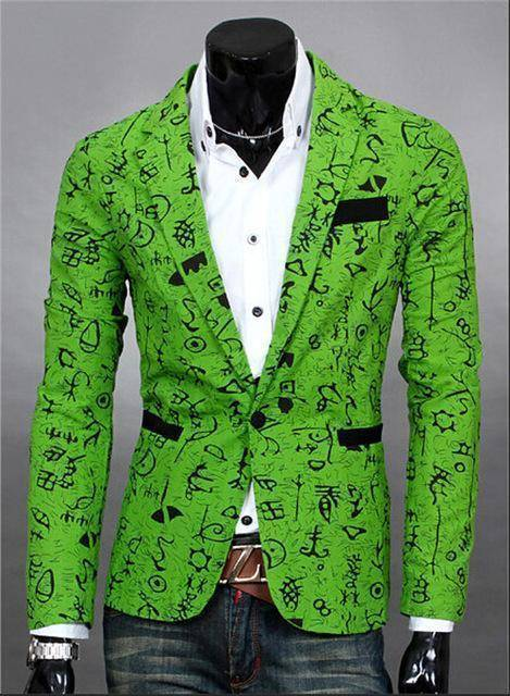 The Orlando by Quincy Men's Suit Jacket  -  green / S  -  Blazers  - SNS Outlet