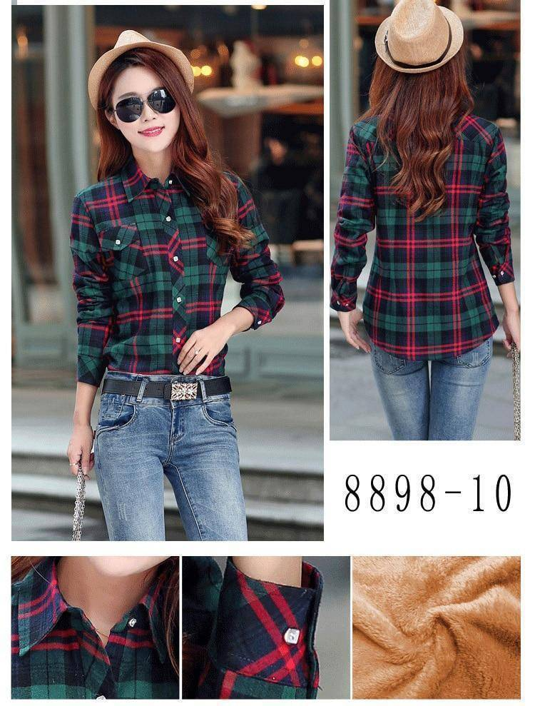 The Wookie - Women's Lined Flannel  -  8898010 / M  -  Blouses & Shirts  - SNS Outlet
